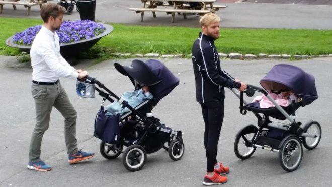 men with babies